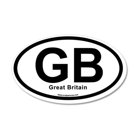 GB - Great Britain oval 35x21 Oval Wall Decal
