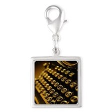 OLD TYPEWRITER Silver Square Charm