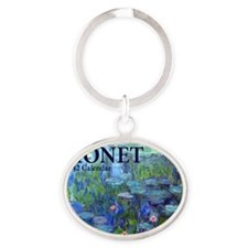 Monet Oval Keychain