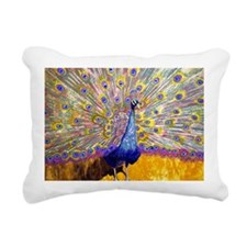 Peacock Principles Decor Rectangular Canvas Pillow