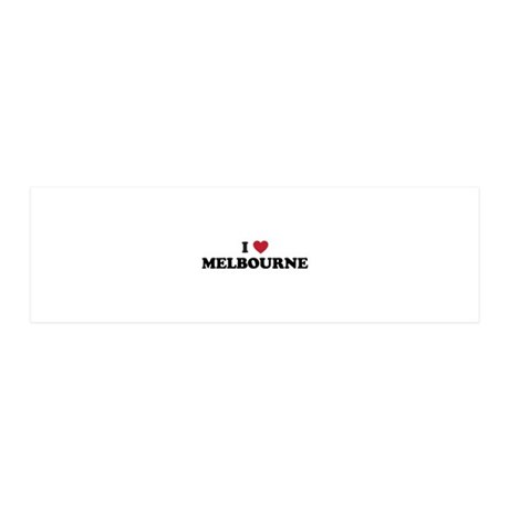 I Love Melbourne 36x11 Wall Decal