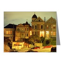 STEINER STREET AT NIGHT IN S Note Cards (Pk of 20)