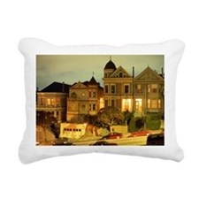 STEINER STREET AT NIGHT  Rectangular Canvas Pillow