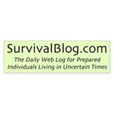 The Original SurvivalBlog Tactical Bumper Bumper Sticker