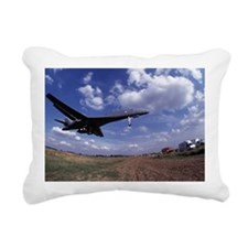 USAF B1 Bomber on final  Rectangular Canvas Pillow