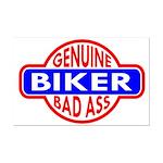 Genuine Biker BadAss Mini Poster Print