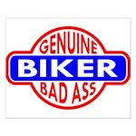 Genuine Biker BadAss Small Poster