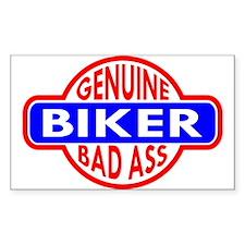 Genuine Biker BadAss Rectangle Decal