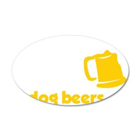 Ive Only Had One In Dog Beer 35x21 Oval Wall Decal