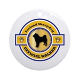 Sheepdog Walker Ornament (Round)
