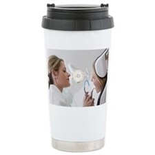 Dentist with patient in surgery Travel Mug