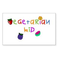 Vegetarian Kid Rectangle Decal