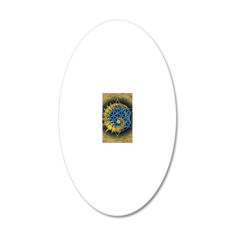 Divine Awakening Card 20x12 Oval Wall Decal
