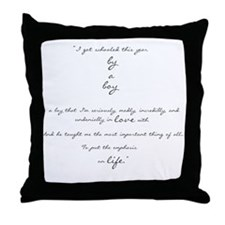 by a boy poem Throw Pillow
