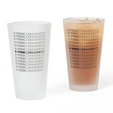 #10FriskCommandments Drinking Glass