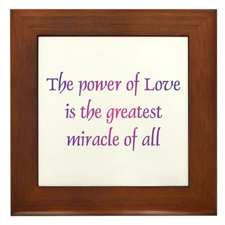 Power of Love Framed Tile