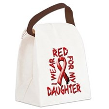 I Wear Red for my Daughter Canvas Lunch Bag