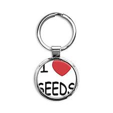 I heart seeds Round Keychain