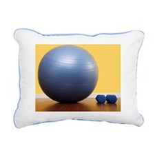 A fitness ball with hand Rectangular Canvas Pillow