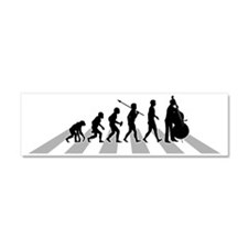 Double-Bass-Player-B Car Magnet 10 x 3