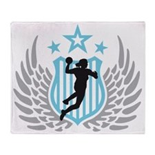 female handball player Throw Blanket