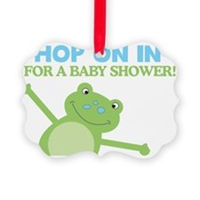 Hop on in for a baby Shower Leap  Ornament