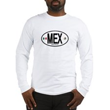 Mexico Euro-style Country Code Long Sleeve T-Shirt