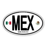 Mexico Euro-style Country Code Oval Decal