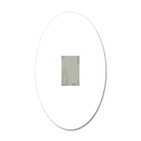 Distressed Grunge Kindle 20x12 Oval Wall Decal