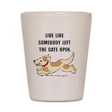 Dog Gate Open Shot Glass