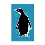 Proud Penguin Rectangle Decal