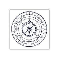 """Compass Square Sticker 3"""" x 3"""""""