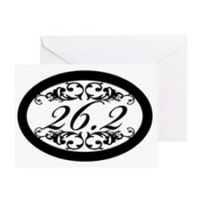 Floral 26.2 Greeting Card