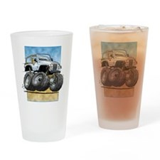 White Wrangler Drinking Glass