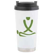 Green massage design Ceramic Travel Mug