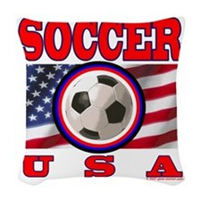 USA Soccer Woven Throw Pillow