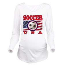 USA Soccer Long Sleeve Maternity T-Shirt