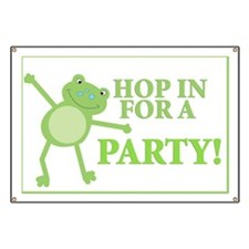 Frog Party Yard Sign Banner