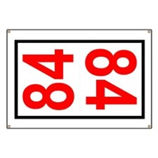 84 Autocross Number Plates Banner