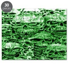skull 30 dark green shade large wide Puzzle
