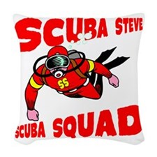 Scuba Steve Woven Throw Pillow