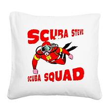 Scuba Steve Square Canvas Pillow