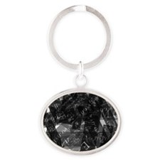 equationsblktransparent Oval Keychain