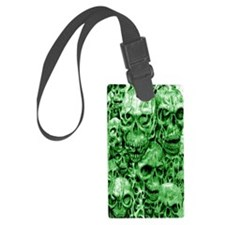 skull 36 dark green shade large  Luggage Tag