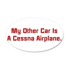 Unique Airplane pilot Oval Car Magnet