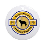 Berger Walker Ornament (Round)