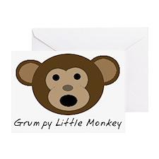 Grumpy Little Monkey Greeting Card