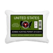 zombie hunting permit Rectangular Canvas Pillow