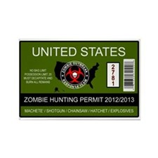 zombie permit rectangle Rectangle Magnet