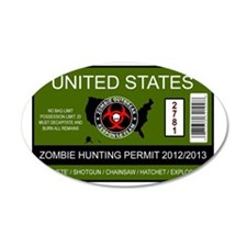 zombie permit rectangle Wall Decal